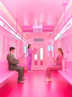 Maria Svarbova Latest 'Ice Cream Museum' Campaign [New York] – Trendland Online Magazine Curating the Web since 2006 pink subway Ice Cream Museum, Boutique Bio, Tout Rose, Retro Mode, Everything Pink, I Cool, Selfie, Experiential, Pink Aesthetic