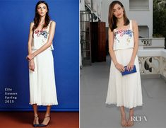 Emmy Rossum In Elle Sasson – Glamour's June Success Issue Dinner Party. So pretty