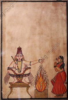 Shiva lehrt den Tanz. Tanjore, c.1850.