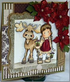 Color Inspiration Project using Magnolia Stamps from Magnolia-licious by Sheri Willshire of TwitterpatedwithPaper. http://magnoliastamps.us/store2/440-walter-the-moose-2/ http://magnoliastamps.us/store2/395-tilda-with-tag-gifts-1/ #crafts #cards