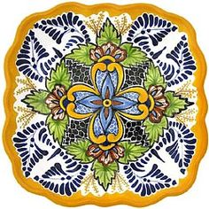 Use these colorful Talavera snack trays to highlight your dining table or any serving area with authentic Mexican style! Each Talavera snack tray is handmade and hand-painted by the artisans of the Tomas Huerta studio. They are great for serving your favorite snacks and hors doeuvres. Be sure to view the Tomas Huerta studio plates as well to complete a table set!