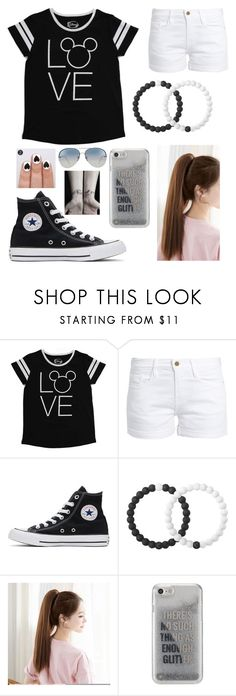 """""""Let's Go Out"""" by mhrainbows ❤ liked on Polyvore featuring beauty, Disney, Frame, Converse, Lokai, Agent 18 and Linda Farrow"""