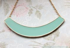 blueish green necklace
