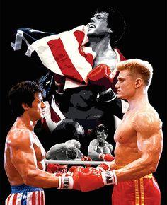 Rocky balboa v Drago flag movie Art Silk Poster Rocky Balboa Movie, Rocky Balboa Poster, Rocky Film, Sylvester Stallone, Iconic Movies, Old Movies, Great Movies, Rocky Legends, Rocky Stallone