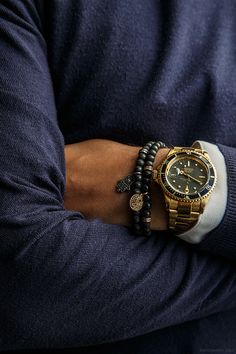 Yellow Gold Rolex Submariner - get your style at watch shirt www.watchshirt.tictail.com