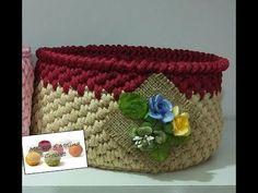 Corbeille crochet - YouTube Crab Stitch, Crochet Video, Straw Bag, Coin Purse, Purses, Crochet Baskets, Youtube, Channel, Videos
