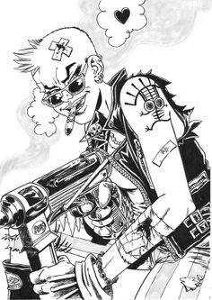 TANK GIRL Commission piece for THOUGHT BUBBLE FESTIVAL 2013!  See you all this weekend at Table 166, New Dock Hall! Rufus! https://www.facebook.com/rufus.dayglo