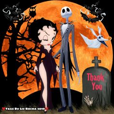 Betty Boop Halloween, Betty Boop Pictures, Halloween Greetings, Facebook Timeline Covers, Cartoon Characters, Fictional Characters, Jack Skellington, Animated Gif, Darth Vader