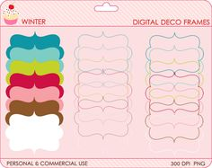 digital clipart frames swilry clip art - BUY 2 GET 2 FREE - Winter Decorative Frames Digital Clipart. $4.00, via Etsy. Clip Art, Frame Clipart, Personalized Tags, Frames, Deco, Digital, Etsy, Personalised Labels, Personalised Signs