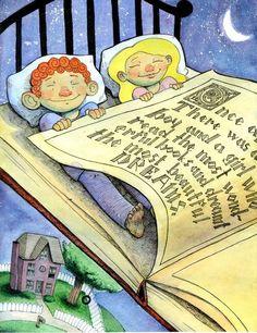 Bedtime … happy reading / Hora de dormir… feliz lectura (ilustración de Alex)