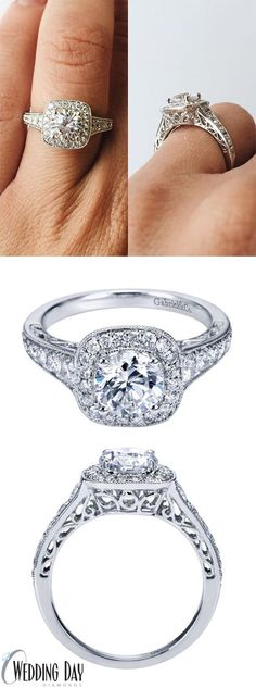 The details on this halo engagement ring are amazing! <3 Seriously one of the prettiest rings I've seen EVER!