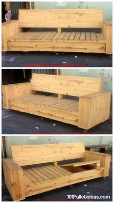Build a Wooden Pallet Sofa on Wheels | 101 Pallet Ideas