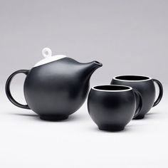 EVA teaset 1 teapot  2 cups from The New York by MaiaMIngDesigns, $95.00