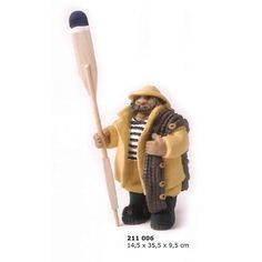 Figura marina pescador con remo