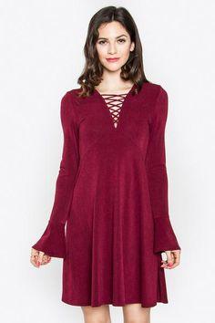 Kierra Lace-Up Dress