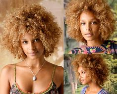 Going this light would wreck my hair but I love this color on #natural #kinky, #curly #hair.