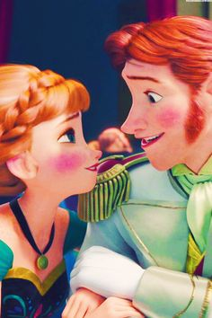 Frozen Princess Anna of Arendelle and Prince Hans of the Southern Isles