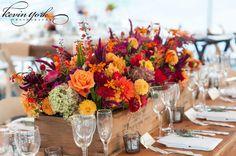 Orange wedding centerpieces #weddingphotography  , #philadelphia  , #wedding  , #flowers , #bridal  , #love  , #tabledecorations  www.kyorkphoto.com/