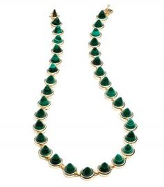 Eddie Borgo Gemstone Small Cone Necklace - Ever Green http://shop.harpersbazaar.com/trends/trending-now-green