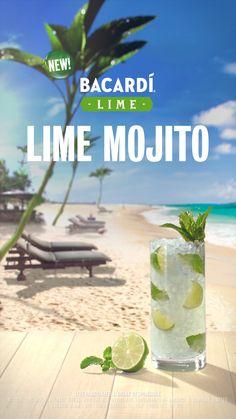 99f03f3c65899 The BACARDÍ Lime Mojito made with NEW BACARDÍ Lime. ☀  DoWhatMovesYou   PumpUpTheLime