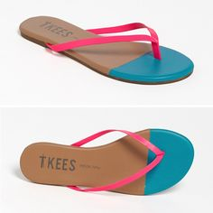 Tkees Neon Tip Flip Flops | 40+ Must-Haves for Summer on the Shore
