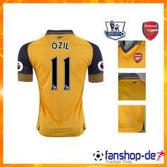 Neueste Arsenal OZIL 11 Auswärtstrikot Gelb 2016 2017 Fan Shop Kaufen