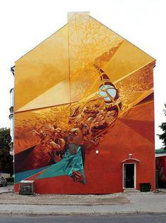 Third update of urban graffiti art for September 2013 // See more street art online from urban artist Mr Pilgrim among other of the world's graffiti artists 3d Street Art, Murals Street Art, Amazing Street Art, Art Mural, Street Art Graffiti, Street Artists, Wall Art, Graffiti Artists, Wall Murals