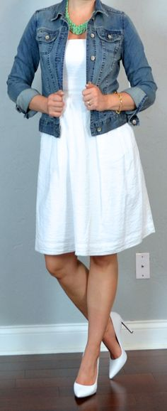 Again, white sundress? But there's something so appealing and breezy about it for summer.