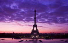 Holiday Beautiful Purple Sky In Above The Eiffel Tower Paris When Sunset Moment HD Wallpaper Paris of Romantic Love City Wallpaper