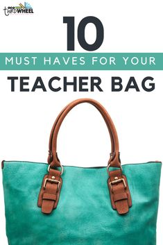 Teacher Bag Essentials: 10 Must-have Items You Might Not Think Of. These are the not-so-apparent essentials a teacher needs in her bag to keep herself organized. - The Third Wheel Teacher Best Teacher Bags, Teacher Tote Bags, Teacher Clothes, Substitute Teacher Bag, Subsitute Teacher, Work Bag Essentials, Teacher Organization, Teacher Hacks, Classroom Organisation
