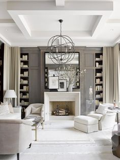 A Swoon-worthy Library by Robert Brown for the Southeastern Designer Showhouse, via @sarahsarna.
