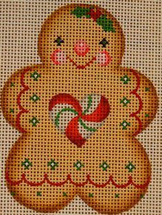 Pocket Full of Stitches: A Collection of Designs Trunk Show needlepoint gingerbread cookie