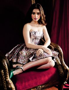 Lily Collins poses as Thumbelina for the fairy tale-themed issue of CR Fashion photography by Paul Jasmin credit
