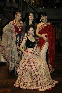 Shyamal & Bhumika--really wish there wasn't so much velvet