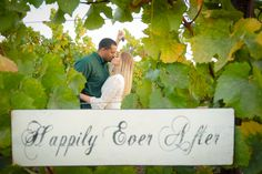 Vineyard Engagement Photos
