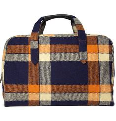 wish i were using this A.P.C. Plaid Weekend Bag to pack up for thanksgiving.