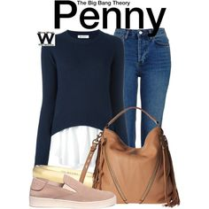Inspired by Kaley Cuoco as Penny on The Big Bang Theory.