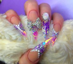 MYSTIQUE FAIRY ACRYLIC STILETTO NAILS Uñas de acrílico | ABSOLUTE NAILS