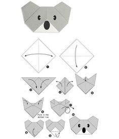Read more about Origami Paper Craft - DIY Papier Diy Origami, Origami Koala, Design Origami, Origami Fish, Paper Crafts Origami, Origami Stars, Easy Origami Tutorial, Origami Penguin, Origami Lamp