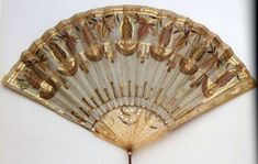 Gauze Fan Embroidered with Spangles, circa 18th Century.