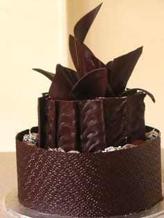 Chocolate cake.  Learn How to Decorate Cakes - Visit Online ABC Cake Decorating Classes on http://CakeDecoratingCoursesOnline.com
