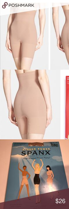 Higher power spanx high waisted power panty new Higher power spanx high waisted power panty new color is bare SPANX Intimates & Sleepwear Shapewear
