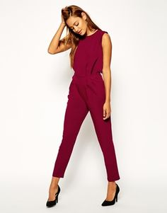 ASOS Jumpsuit with Open Back and Pleated Detail