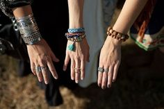 Rings, knuckle rings and bracelets
