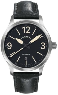 Mühle Glashütte Terranaut III Trail Watch. I like the bold, clear hands on this simple watch.