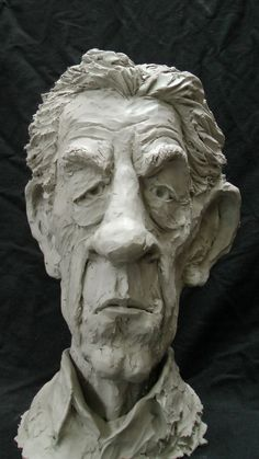 Resin Composite Portrait Sculptures / Commission or Bespoke or Customised sculpture by sculptor Richard Austin titled: Bust of Sir Ian McKellen (Caricature Portrait statue) Portrait Sculpture, Sculpture Head, Sculptures Céramiques, Sculpture Rodin, Abstract Sculpture, Bronze Sculpture, Statue Tattoo, Greek Statues, Clay Faces