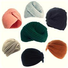 DIY knitted turban ideas Knitting Yarn, Knitting Patterns, Crochet Patterns, Crochet Chart, Diy Crochet, Knit Mittens, Turbans, Vintage Diy, Knitting Accessories