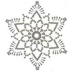 Crochet Snowflake Pattern, Crochet Motifs, Christmas Crochet Patterns, Granny Square Crochet Pattern, Crochet Snowflakes, Crochet Mandala, Doily Patterns, Crochet Doilies, Crochet Flowers