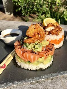 Sushi maar dan even anders! Food Porn, Pho, Exotic Food, Recipes From Heaven, Burger, Food Menu, Healthy Desserts, Food Inspiration, Love Food