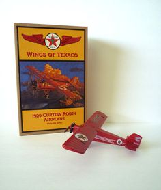 1929 Curtiss Robin Airplane Texaco Cast Metal by TaMuidBeo on Etsy, $45.00